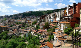 Houses in town Veliko Tarnovo Royalty Free Stock Photography