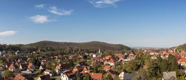 Houses in town Wernigerode in Harz mountains Royalty Free Stock Image