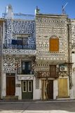 Pyrgi village, Chios. Stock Images