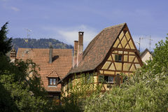 houses traditionell kaysersberg Royaltyfria Foton