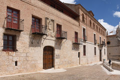 The Houses of the Treaty in Tordesillas,. Valladolid province, Castilla y Leon, Spain royalty free stock photography