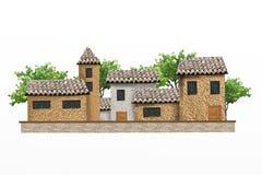 houses trees Arkivbilder