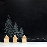 houses trees Arkivfoton