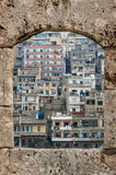 Houses in Tripoli, Lebanon. Part of the city of Tripoli as shown from the Crusaders Castle in Lebanon Royalty Free Stock Photo
