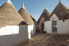 houses trulli Arkivfoto