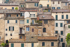 Houses in Tuscan village Royalty Free Stock Images