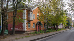 Houses in Tver, Russia. Stock Image