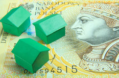 Houses on two hundred zloties Stock Photo