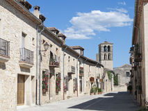 Houses typical. Street of the town of pedraza province of segovia in Spain Stock Photos