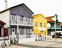 Houses typical of Aveiro Stock Photography