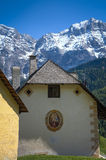 Houses in Tyrolean region of Italy Stock Photos