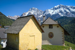 Houses in Tyrolean region of Italy Royalty Free Stock Image