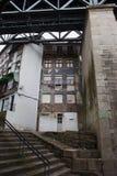 Houses Under the Bridge in Porto Royalty Free Stock Image