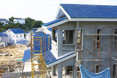 Houses under Construction royalty free stock image