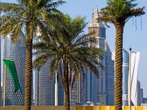 Houses under construction in Dubai stock images