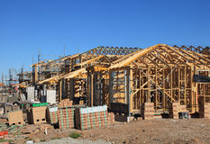 Houses under construction, Sydney, Australia Stock Images