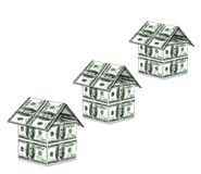 Houses from USA dollars Royalty Free Stock Photos