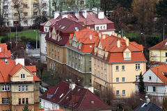 Houses in Usti nad Labem Stock Photos
