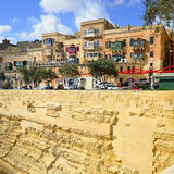 Houses of Valleta capital city on island Malta Royalty Free Stock Images