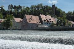 houses vattenfallet Fotografering för Bildbyråer