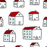 Houses, vector seamless pattern Stock Photography
