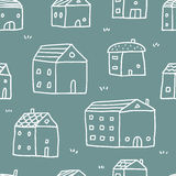 Houses, vector seamless pattern Royalty Free Stock Photos