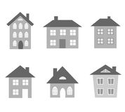 Houses vectors Stock Image