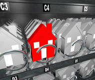 Houses in Vending Machine Real Estate Surplus Unique Home Royalty Free Stock Photography