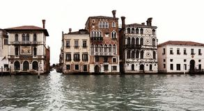 Houses of venice antique. Another houses of venice russet Stock Photography