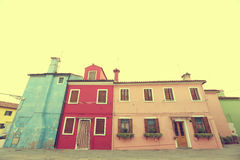 Houses from Venice photographed from a low angle Royalty Free Stock Image