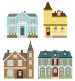 houses victorianen stock illustrationer