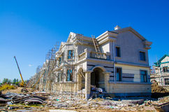 Houses(villa) are being built(build) Stock Images