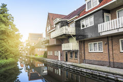 Houses in Volendam, Netherlands Stock Photo