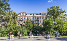 Houses at the Vondelpark Amsterdam Royalty Free Stock Photo