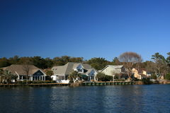 Houses on the water Royalty Free Stock Photos