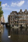 Houses on the water in Amserdam Stock Photography