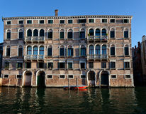 Houses water canal, Venice, Italy Royalty Free Stock Images