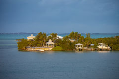 Houses and water in the Caribbean Stock Images