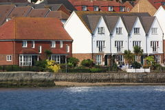 Houses on a waterside Royalty Free Stock Photography