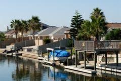 Houses waterside Stock Photo