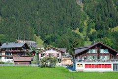 Houses in Wengen Stock Photo