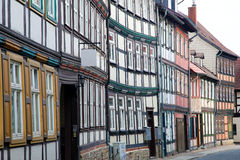 Houses in Wernigerode. Medieval houses in Wernigerode in Germany Stock Images