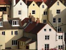 houses whitby Arkivbild