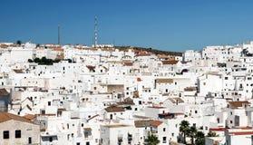houses white Arkivbild