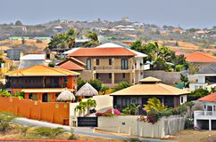 Houses in Willemstad, Curacao. Colorful houses in Willemstad, Curacao stock images