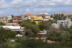 Houses in Willemstad on Curacao Stock Images