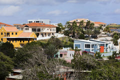 Houses in Willemstad on Curacao Royalty Free Stock Photos