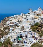 View of Oia village. Santorini, Greece Stock Photography