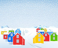 Houses in the winter Stock Photography