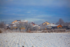 Houses in winter Stock Image